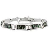 Black Opal Gemstone Link Bracelet Sterling Silver B5522-C31