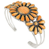 Orange Spiny Oyster Bracelet Sterling Silver B5523-C79