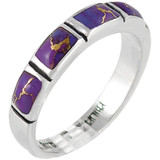 Purple Turquoise Ring Sterling Silver R2232-C77