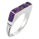 Purple Turquoise Ring Sterling Silver R2067-C77