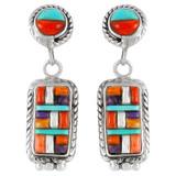 Multi Gemstone Earrings Sterling Silver E1118-C51