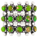 Green Turquoise Ring Sterling Silver R2022-C76