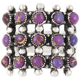Purple Turquoise Ring Sterling Silver R2022-C77