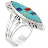 Turquoise Ring Sterling Silver R2023-C55