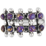 Purple Turquoise Ring Sterling Silver R2035-C77