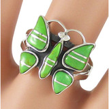 Butterfly Green Turquoise Ring Sterling Silver R2037-C06