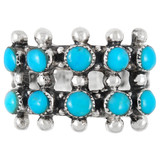 Turquoise Ring Sterling Silver R2035-C75