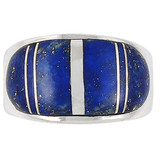 Lapis Ring Sterling Silver R2234-C12