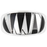 Black White Ring Sterling Silver R2234-C35