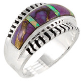 Purple Turquoise Ring Sterling Silver R2267-C23