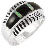 Black Opal Ring Sterling Silver R2267-C27