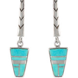 Turquoise Earrings Sterling Silver E1165-C05