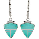 Turquoise Earrings Sterling Silver E1166-C05