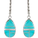 Turquoise Earrings Sterling Silver E1167-C05