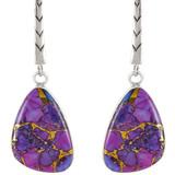 Purple Turquoise Earrings Sterling Silver E1168-C77