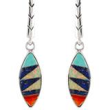 Multi Gemstone Earrings Sterling Silver E1171-C00