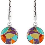 Multi Gemstone Earrings Sterling Silver E1172-C01