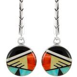 Multi Gemstone Earrings Sterling Silver E1172-C02