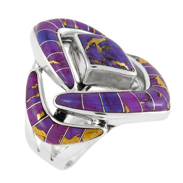 Purple Turquoise Ring Sterling Silver R2040-C07