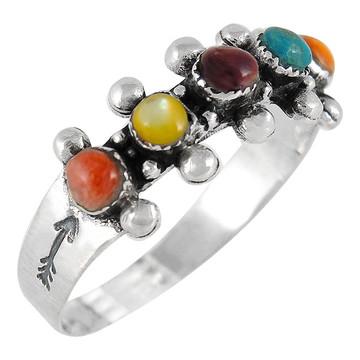 Multi Gemstone Ring Sterling Silver R2241-C71