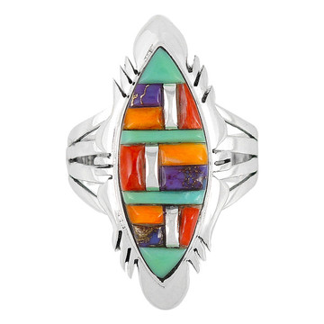 Multi Gemstone Ring Sterling Silver R2023-C51