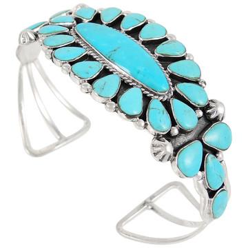 Turquoise Bracelet Sterling Silver B5494-C75