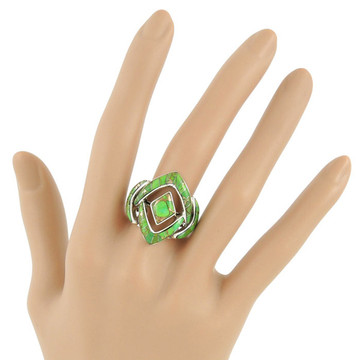 Green Turquoise Ring Sterling Silver R2040-C06