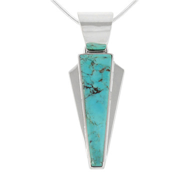 Sterling Silver Pendant Turquoise P3090-C75