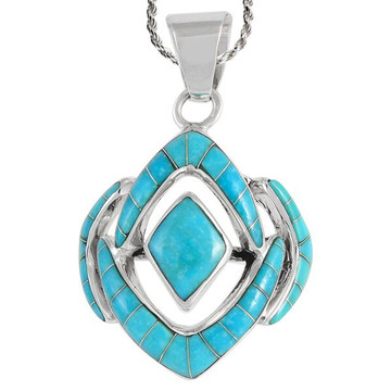 Sterling Silver Pendant Turquoise P3115-C05