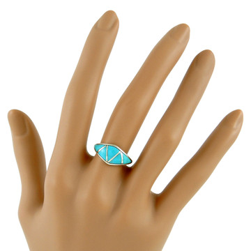 Turquoise Ring Sterling Silver R2286-C05