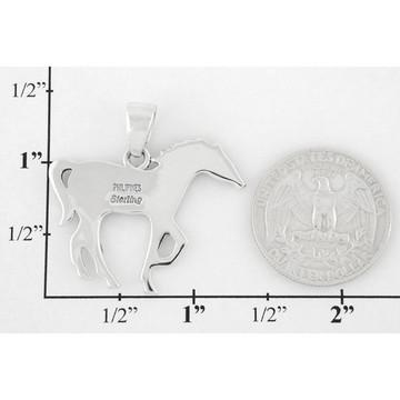 Horse Jewelry Pendant Sterling Silver Multi Gemstone P3049-SM-C34