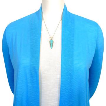 Sterling Silver Pendant & Earrings Set Turquoise PE4033-C05
