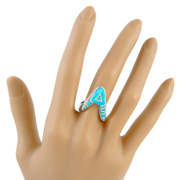 Turquoise Ring Sterling Silver R2370-C05
