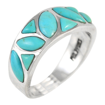Turquoise Ring Sterling Silver R2388-C75