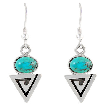 Sterling Silver Earrings Turquoise E1217-C75