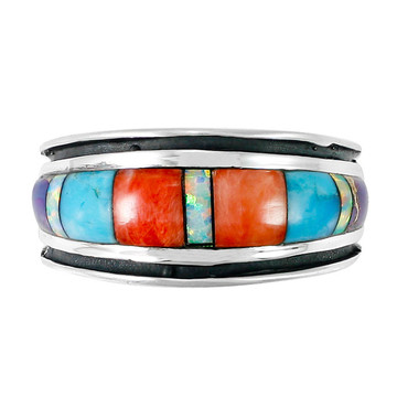 Sterling Silver Ring Multi Gemstone R2024-C01