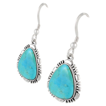 Sterling Silver Earrings Turquoise E1157-SM-C75