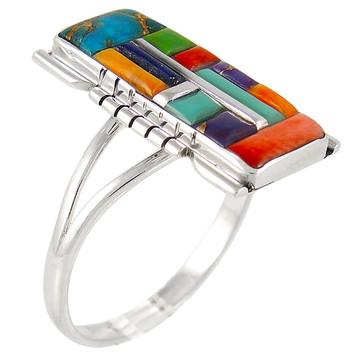 Multi Gemstone Ring Sterling Silver R2017-C51