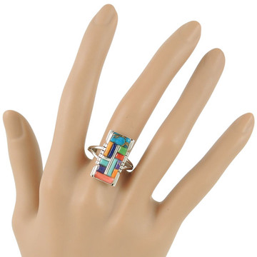 Multi Gemstone Ring Sterling Silver R2017-C51