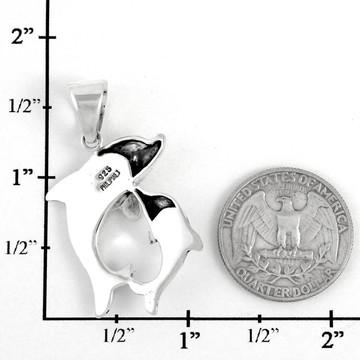 Sterling Silver Dolphin Pendant Multi Gemstone P3211-SM-C01