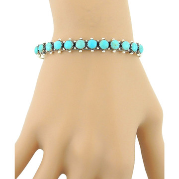 Turquoise Bracelet Sterling Silver B5426-C75