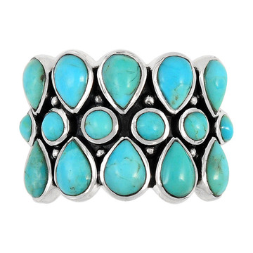 Turquoise Ring Sterling Silver R2415-C75