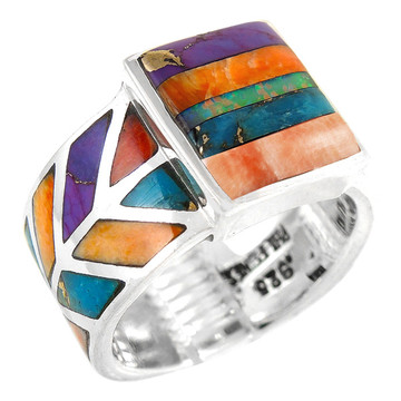 Multi Gemstone Ring Sterling Silver R2372-C00