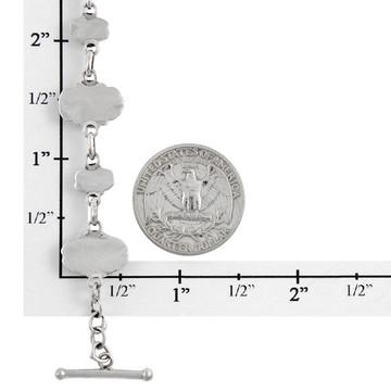 Multi Gemstone Link Bracelet Sterling Silver B5560-C71