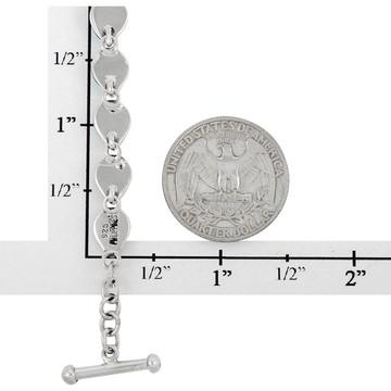 Multi Gemstone Link Bracelet Sterling Silver B5565-C71