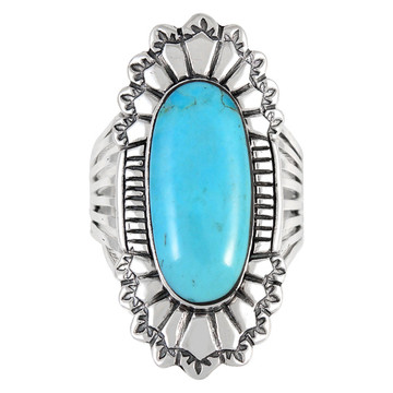 Turquoise Ring Sterling Silver R2427-C75