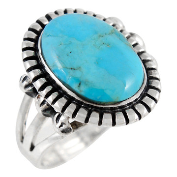 Turquoise Ring Sterling Silver R2438-C75