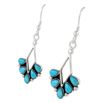 Sterling Silver Earrings Turquoise E1276-C75
