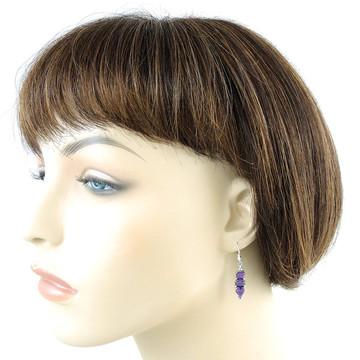 Sterling Silver Earrings Purple Turquoise E1278-C77