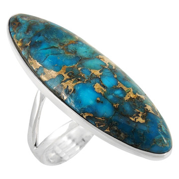 Matrix Turquoise Ring Sterling Silver R2440-C84
